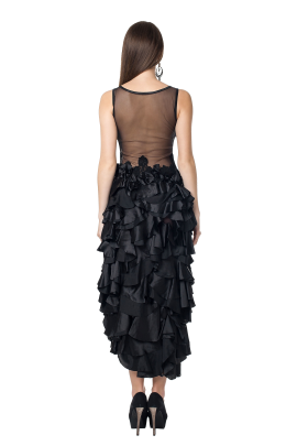 Black Glamorous Tulle Dress-2