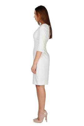 White Crepe Dress-1