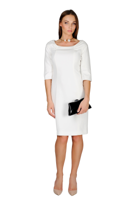 White Crepe Dress-0