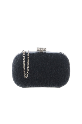 Black Fur Clutch-0