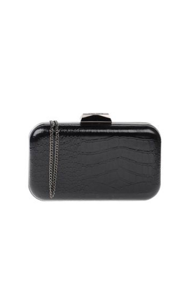 Black Structured Clutch-0