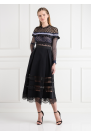 Bellis Lace Trim Midi Dress