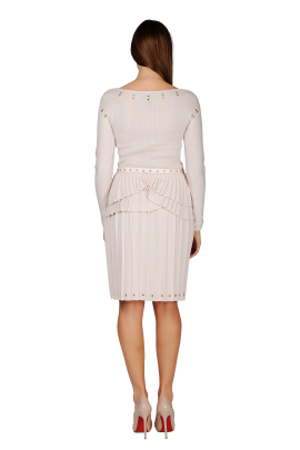 Cosy Peplum Wool Dress-3