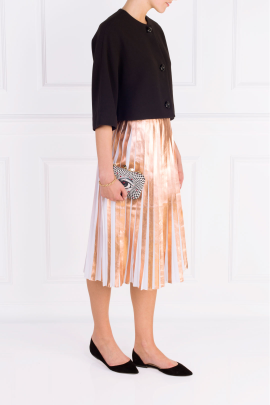 Metallic Pleated and Cropped Suit-1