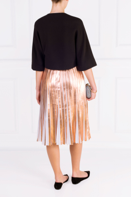 Metallic Pleated and Cropped Suit-3