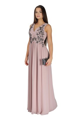 Applique Bodice Maxi Dress-1