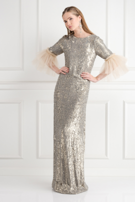 Gabrielle Sequin Dress-0