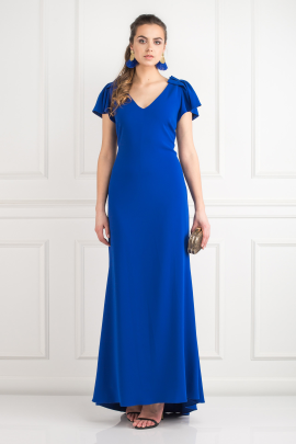 Indigo Stretch-cady Gown-1