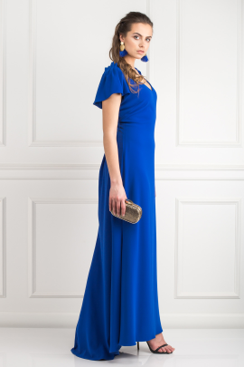 Indigo Stretch-cady Gown-2