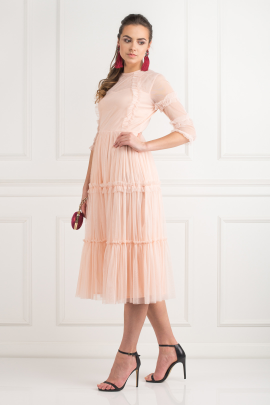 Tiered Sheer Tulle Dress-1