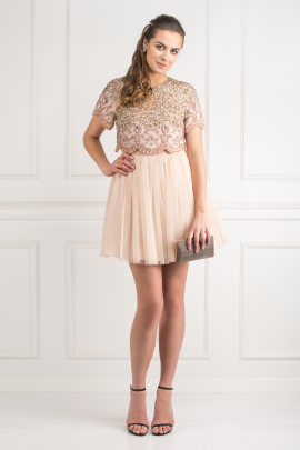 Tulle Mini Prom Dress-1