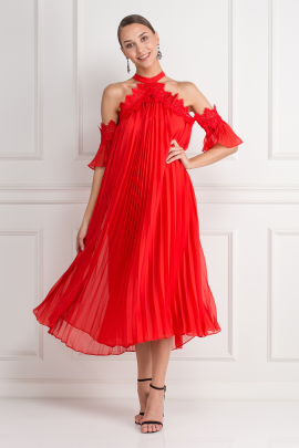 Swing Dress In Red-0