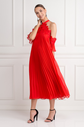 Swing Dress In Red-1