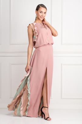 Ruffle-Trimmed Maxi Dress-1