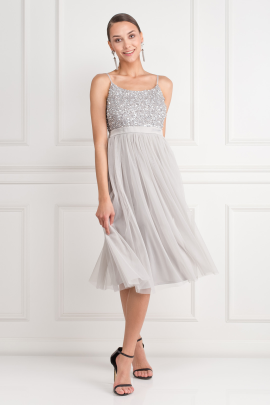 Sequin Top Tulle Dress-0