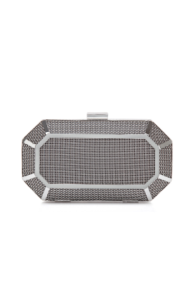 Grid Box Clutch Bag-0