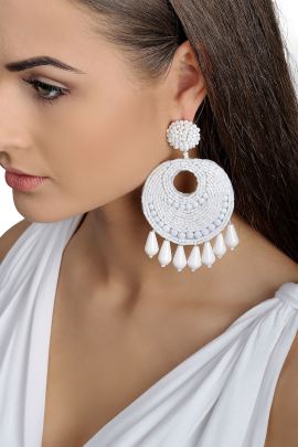 White Gipsy Earrings / VILNIUS-1