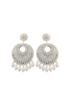 White Gipsy Earrings / VILNIUS-0