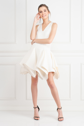 White Claudia Dress / VILNIUS-0