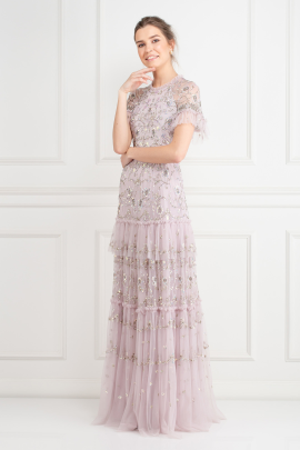 Constellation Embellished Tulle Gown-1