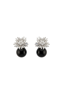 Black Pearl Earrings-0