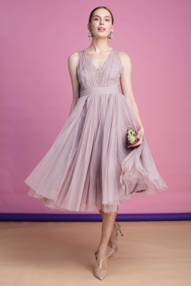 Dust Lilac Cherie Dress / VILNIUS -2