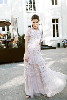 * Constellation Embellished Tulle Gown-2
