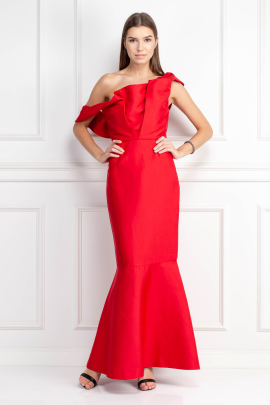 Silhoutte Long Red Dress-0