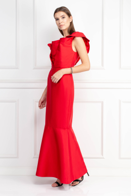 Silhoutte Long Red Dress-1