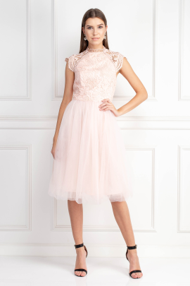 Light Pink Tulle Skirt Dress-0