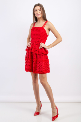 Rouge Tiered Mini Dress -1