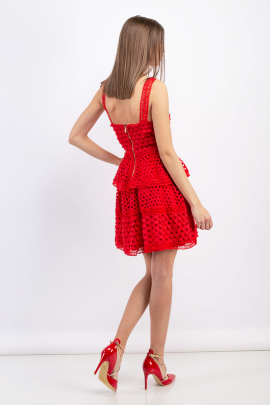 Rouge Tiered Mini Dress -2