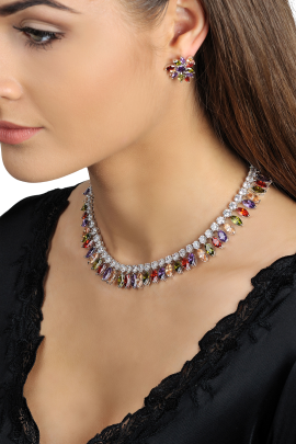 Multi Cubic Necklace-1