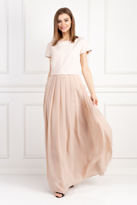 Nude Crepe Dress-0