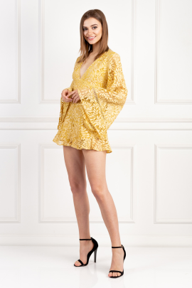 Golden Yellow Playsuit-1