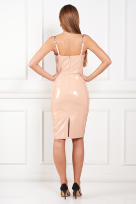 Faux Leather Pencil Dress-2