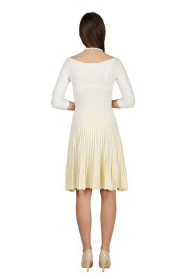 Light Yellow Knitted Dress-2
