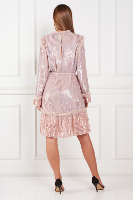 Tulle-Trimmed Sequined Chiffon dress / VILNIUS-2