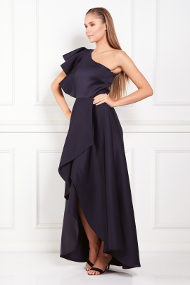 Frill One Shoulder Maxi Dress-1