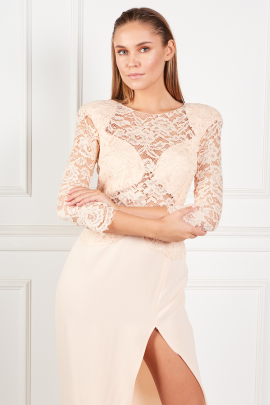 Dusty Pink Lace Dress-3