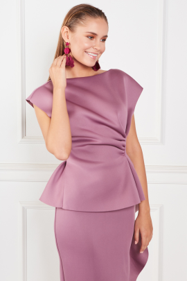 Peplum Pencil Dress-3