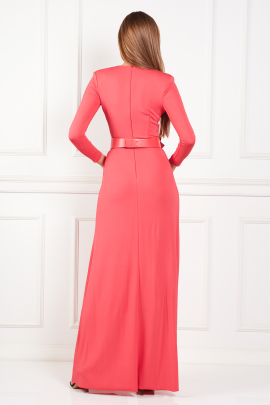Long Dress With Belt-2