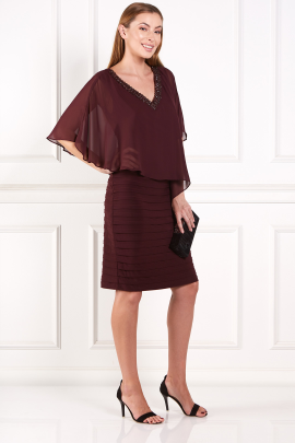 Burgundy Layered Dress-1