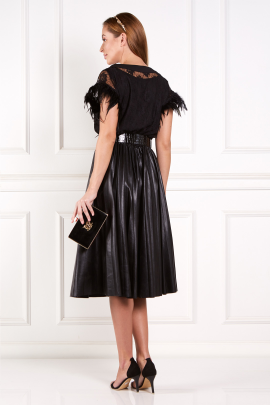 * Black Abu Dhabi Dress With Feathers-2