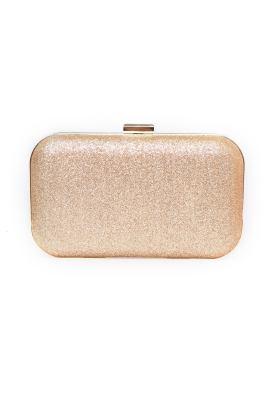 Gold Glitter Clutch Bag-0
