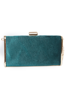 Green Clutch With Tassel Decor-0