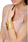 Gold Sculpture Bracelet