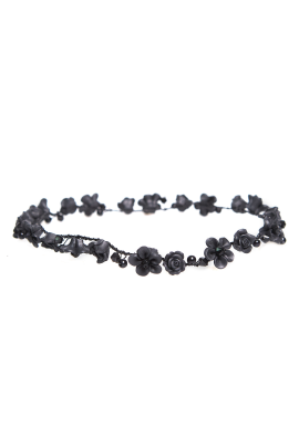 Aria Black Headband-0