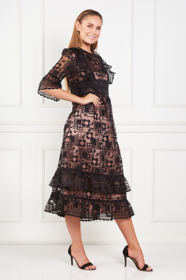 Black Flower Dress / VILNIUS-1