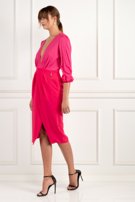 Wraparound Fuchsia Dress-3